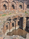 Baoli or Well at Purana Qila or Old Fort Delhi Royalty Free Stock Photos