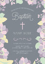 Baptism, Christening, First Communion, or Confirmation Invitation Template Royalty Free Stock Photo