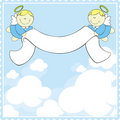 Baptism greeting card Royalty Free Stock Image