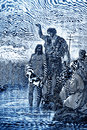 The baptism of jesus biblical theme illustrated by gustave dore Royalty Free Stock Photography