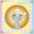 Baptism symbolic illustration for the Stock Photography