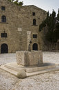 Baptistery fountain of fifth century in Rhodes Stock Images