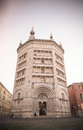 Baptistery on piazza del duomo parma front view of italy Royalty Free Stock Photos