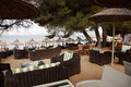 Bar on Banana Beach, Skiathos Royalty Free Stock Photos