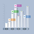 Bar chart, graph infographics element Royalty Free Stock Photo