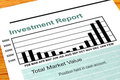 Bar Chart Investment Report Royalty Free Stock Photo