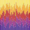 Bar Chart Stripes-Sunset Colours Stock Photo