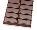 Bar of chocolate in light reflective back Stock Images