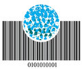 Bar code and bubbles Royalty Free Stock Photography