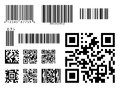 Bar code icon qr code symbol vector Royalty Free Stock Photo