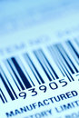 Bar code label Royalty Free Stock Photos