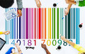 Bar code price tag merchandise concept Royalty Free Stock Photos