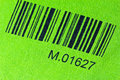 Bar code printed a green cloth Stock Images
