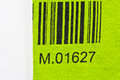 Bar code printed a green cloth Royalty Free Stock Image