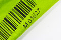 Bar code printed a green cloth Royalty Free Stock Photography