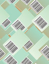 Bar code. Seamless pattern Royalty Free Stock Photo
