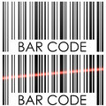 Bar code on white background concept illustration Stock Photos