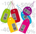 Bar codes labels Royalty Free Stock Images