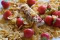 Bar de Muesli avec des cornflakes Photos stock
