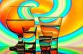 Bar glassware Royalty Free Stock Photo