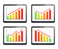Bar Graphs Royalty Free Stock Images