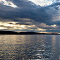 Bar Harbor at sunset, Maine Royalty Free Stock Photo
