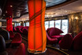 Bar interior on cruise liner Splendida. Royalty Free Stock Photo