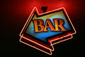 Bar neon lights Stock Images