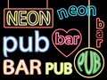 Bar neon signs Royalty Free Stock Photo