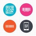 Bar and Qr code icons. Scan barcode symbol Royalty Free Stock Photo