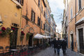 Bar restaurant in Rome, Italy
