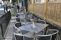 Bar restaurant on sidewalk Royalty Free Stock Photo