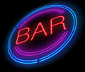 Bar sign illustration depicting a with a concept Stock Images