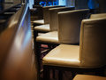 Bar Stool seats row Interior Bar Restaurant Royalty Free Stock Photo