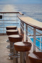 Bar Stools on Cruise Ship Stock Images