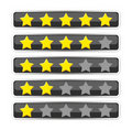 Bar with voting/rating stars Stock Photography