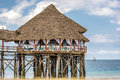 Bar on water in Zanzibar, Tanzania Royalty Free Stock Photo
