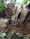 Baraboo rock climbing at Devils Lake Royalty Free Stock Photo