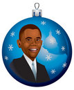 Barack Obama Christmas Ornament in vector Royalty Free Stock Photography