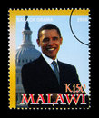 Barack Obama Postage Stamp Royalty Free Stock Photo