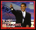Barack Obama Postage Stamp from Malawi Royalty Free Stock Photo