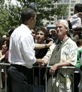 Barak Obama Shaking Hands Royalty Free Stock Photography