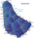 Barbados map Stock Photo