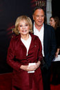 Barbara walters new york oct talk show host l and guest attend the broadway opening night of a time to kill at the golden theatre Stock Photography
