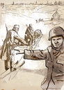 Barbarossa vintage picture from the series world between operation the largest military operation in history a hand drawn Stock Image
