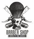 Barbe shop logo