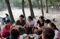 The barbecue activity in shenzhen on weekend friends meet to hold a park Royalty Free Stock Images