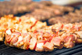 Barbecue bij de grill Royalty-vrije Stock Afbeelding