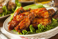 Barbecue Buffalo Chicken Wings Royalty Free Stock Photo