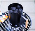 Barbecue Charcoal Chimney Starter Royalty Free Stock Photo